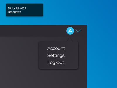 Daily UI #027 - Dropdown dropdown 027 daily 100 challenge