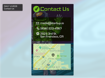 Daily UI #028 - Contact Us contact us 028 ui daily 100 challenge