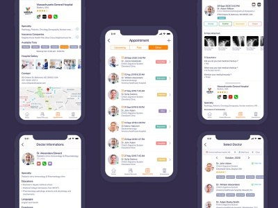 Care Passport App Presentation Appointment - Purple appointment medical care patient medical design hospital healthcare doctor