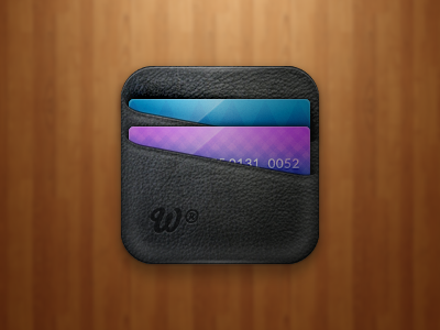 Wallet Icon wallet icon ios card leather