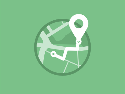 Locate icon illustration location locate directions pin map simple