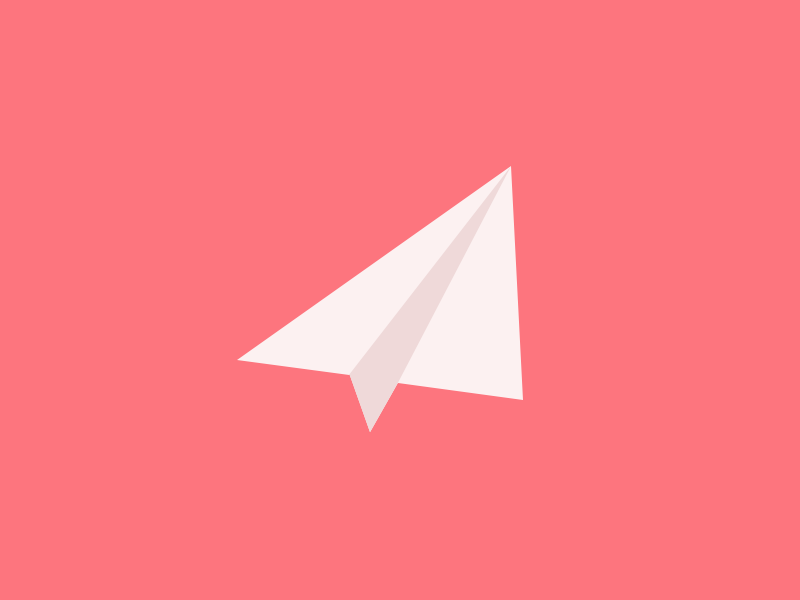 Wooosh mail icon simple sketch paper plane