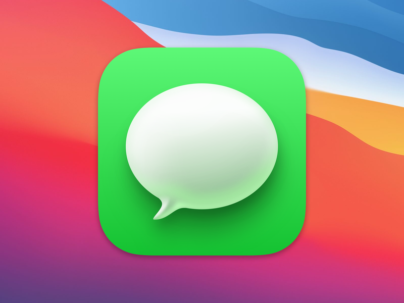 Big Sur Messages Icon, made with Sketch messages icon icon macos apple bigsur sketchapp sketch