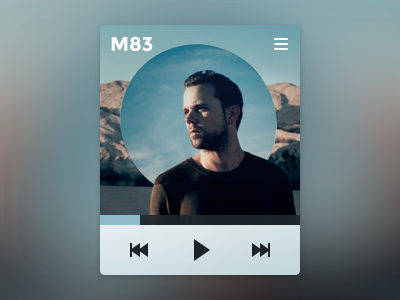 Minimalist music player music player blurred