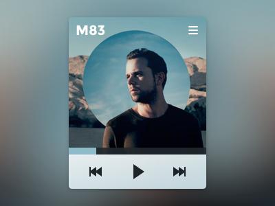 Minimalist music player music player blurred