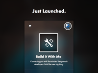 Build it With Me just Launched!