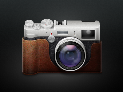 Fujifilm X100 Icon fujifilm camera x100 icon lens detailed wip