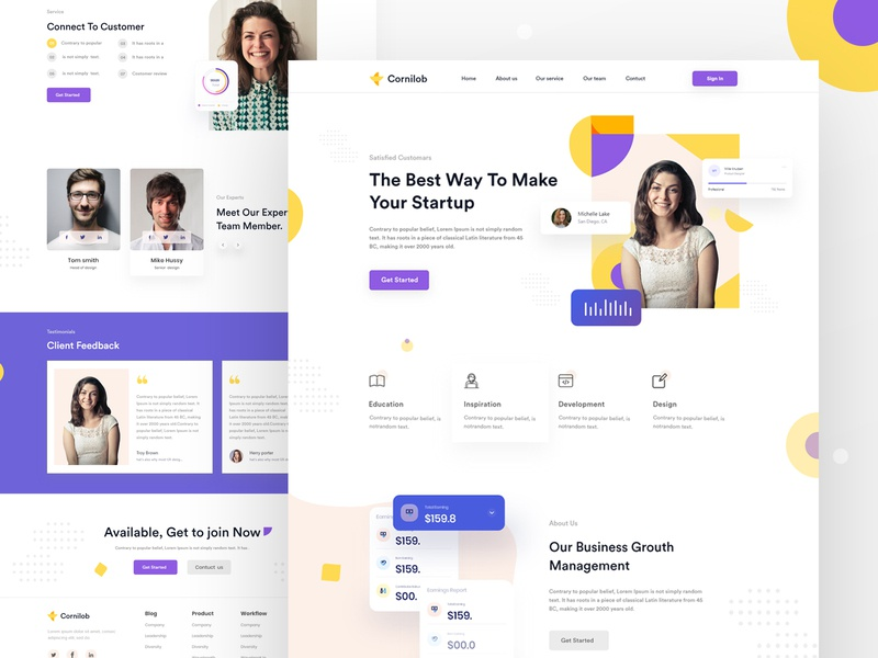 Landing page design colorful minimal branding agency website dribbble best shot website design user experience 2k20 user interface business website homepage landing page design