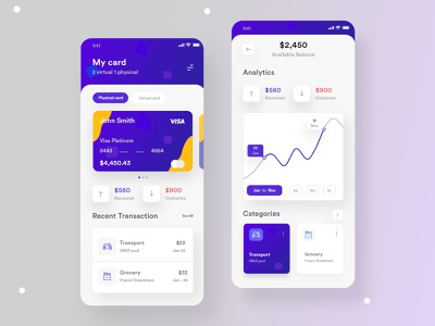 Finance App Visual Exploration app design ios app credit cards banking app product design payments finance finance app wallet ui mobile mobile app