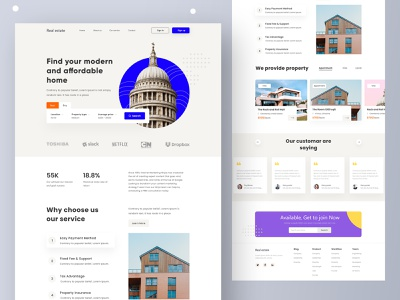 Real Estate Landing Page best shot on dribbble landing page ux ui website design 2021 trends 2021 design minimal design simple arkitecher arkitecher property logo interior agent landing page design property management real estate agency property