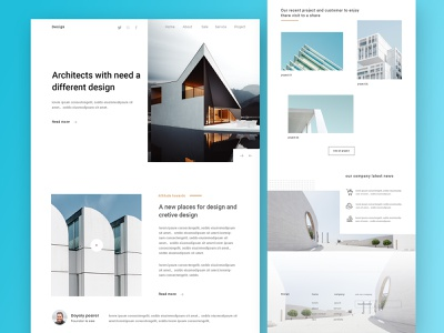 Architecture Firm - Landing page landing page website design ux ui typography firm  interior design construction  design building blocks agency website architect  best architechture 2018 trends