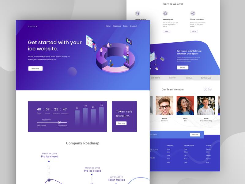 ICO Landing Page team oreo design saas ui design uxdesign  webdesign ico minimal landingpage ethereum cryptocurrency crypto bitcoin