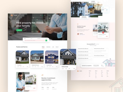 Real Estate Landing Page ui web webpage website properties architecture landing page ecommerce  home interior architecture 2019 trends real esate real estate agency