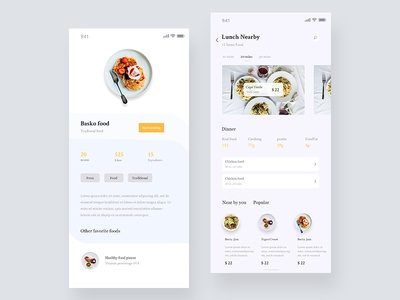 Food App Concept 01 food website dashboard design  food mobile app food delivery app modern app design food app concept app app design web vector ux ui food app