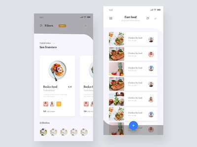 Food App Concept 02 web typography 2019 trends food website dashboard design  food mobile app food delivery app food app concept app app design ux ui food app