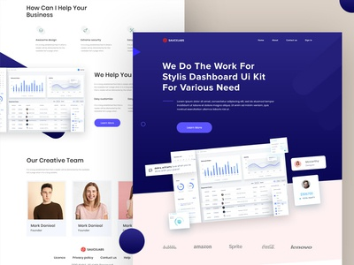Saucelabs Landing Page homepage ux ui software agency website data analytics dashboard agency sass landing page product landing sass product sass