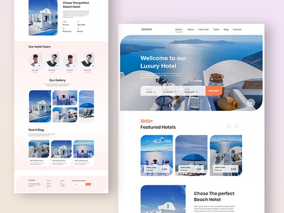 Hotel Landing Page restaurent website ux ui hotel booking website hotel travel website dribbble best shot minimal landing page booking.com booking airbnb