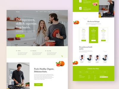 Health and Diet Landing Page 2020 trends health redesign minimal ui restaurant website landibg page dribbble best shot website food website health and diet landing page