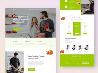 Health and Diet Landing Page