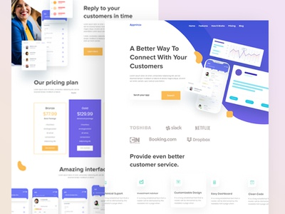 App Landing Page Design V1 website design ux ui website landingpage creative clean design 2020 trends