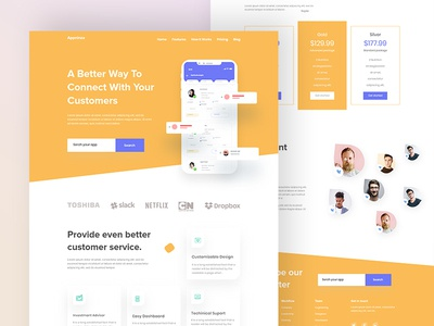 App Landing Page design V2 web design app landing page 2020 trends website design uideft color website dribbble best shot app design landing page ux ui