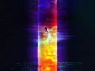Rise. figure glitch art 2d photoshop glitch rising modal graphic digitize