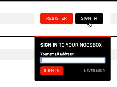 Noosbox Sign In box