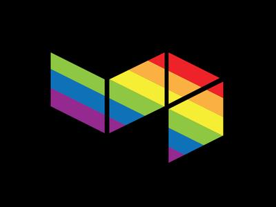 Pride Edition of the Buildkite mark stickers equality buildkite