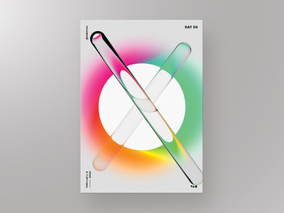 Daily poster 04 - XO gradient color graphic daily art daily gradient xo poster illustration typography design