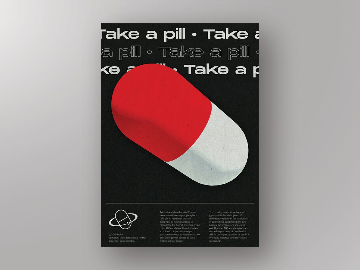 Daily poster 10 - Pill pill graphic daily poster illustration art typography clean minimal design