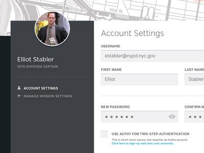 Account Settings UI