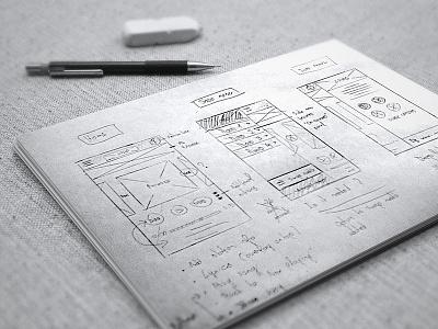 App design | Phase 1: Sketching sketch app wireframe music ios drawing