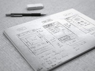 App design | Phase 1: Sketching