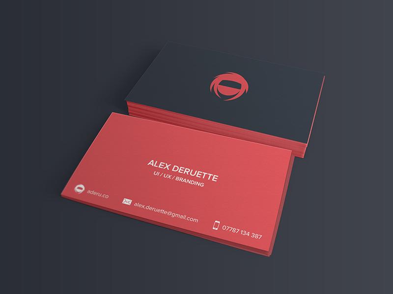 Personal business card business card alex deruette