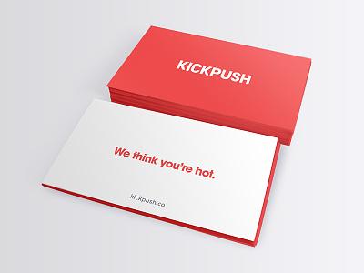 Kickpush Business Cards studio ui ux iphone ios mobile agency website app cards business kickpush