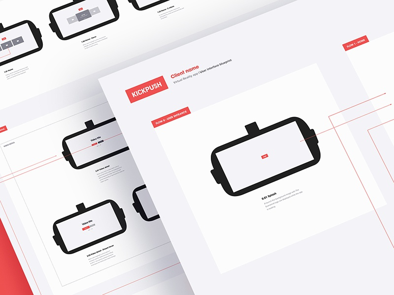 Virtual reality interface ux blueprint by alex deruette dribbble malvernweather Image collections