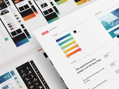 Website design deliverables typography gradient ux guide style assets ui process deliverables web website kickpush