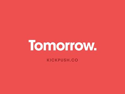 Tomorrow   Kickpush.co app branding ux ui red colour vr portfolio agency website kickpush