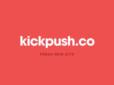 Kickpush.co is live app branding ux ui red colour vr portfolio agency website kickpush