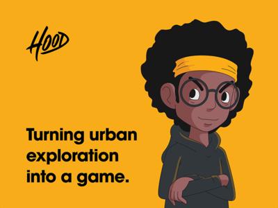 Kickpush.co | Hood illustration branding ux ui game iphone study case app hood kickpush