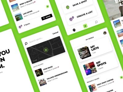 Trippin - Travel App globe green iphone kickpush trippin branding ux ui mobile travel app