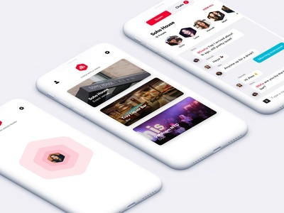 Here - Express Product Design ux ui branding ios iphone pin bee location chat network social app