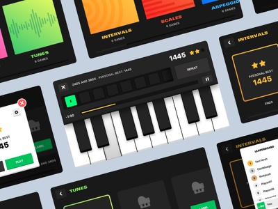 Learn piano on your mobile e-learning mobile colours ios iphone game keyboard piano music branding app