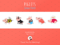Piglets stickers