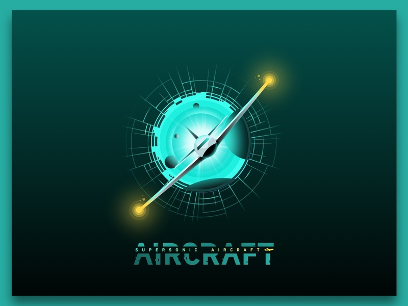 SUPERSONIC  AIRCRAFT sky space sound plane aircraft supersonics supersonic super superhero branding vector design illustration