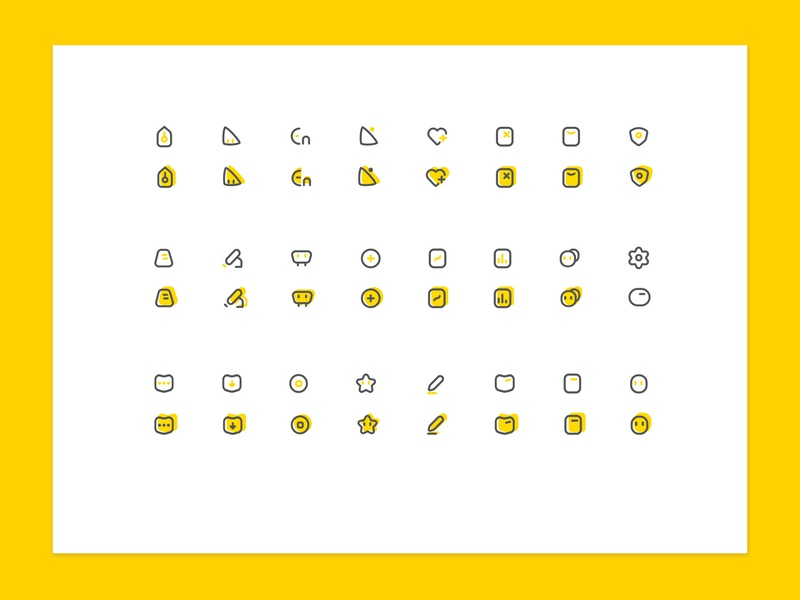 Educate Icons Yellow Yellooowww~~my other style~ school educate education student culture typography after affects website baidu china web ux logo design app 平面 ui illustration icon branding