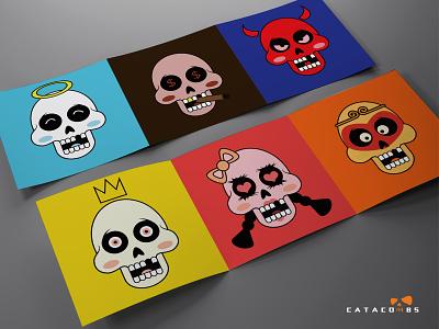 Catacombes de Paris 巴黎地下墓穴 festival china animation bone cartoon culture baidu web ux logo design app ui 平面 icon illustration branding