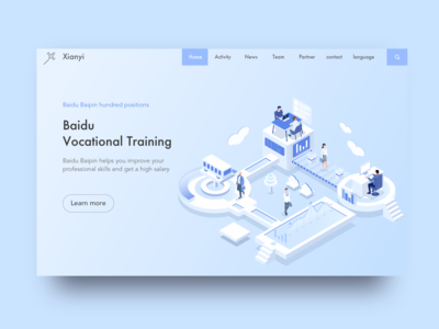 Baidu Baipin web isometric 2.5d~ blockchain 2.5d isometric china baidu web ux logo design app 平面 ui illustration icon branding