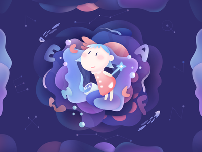 Cute illustration planet education student learn star magic space abc english lettering cartoon children animation vector typography illustration