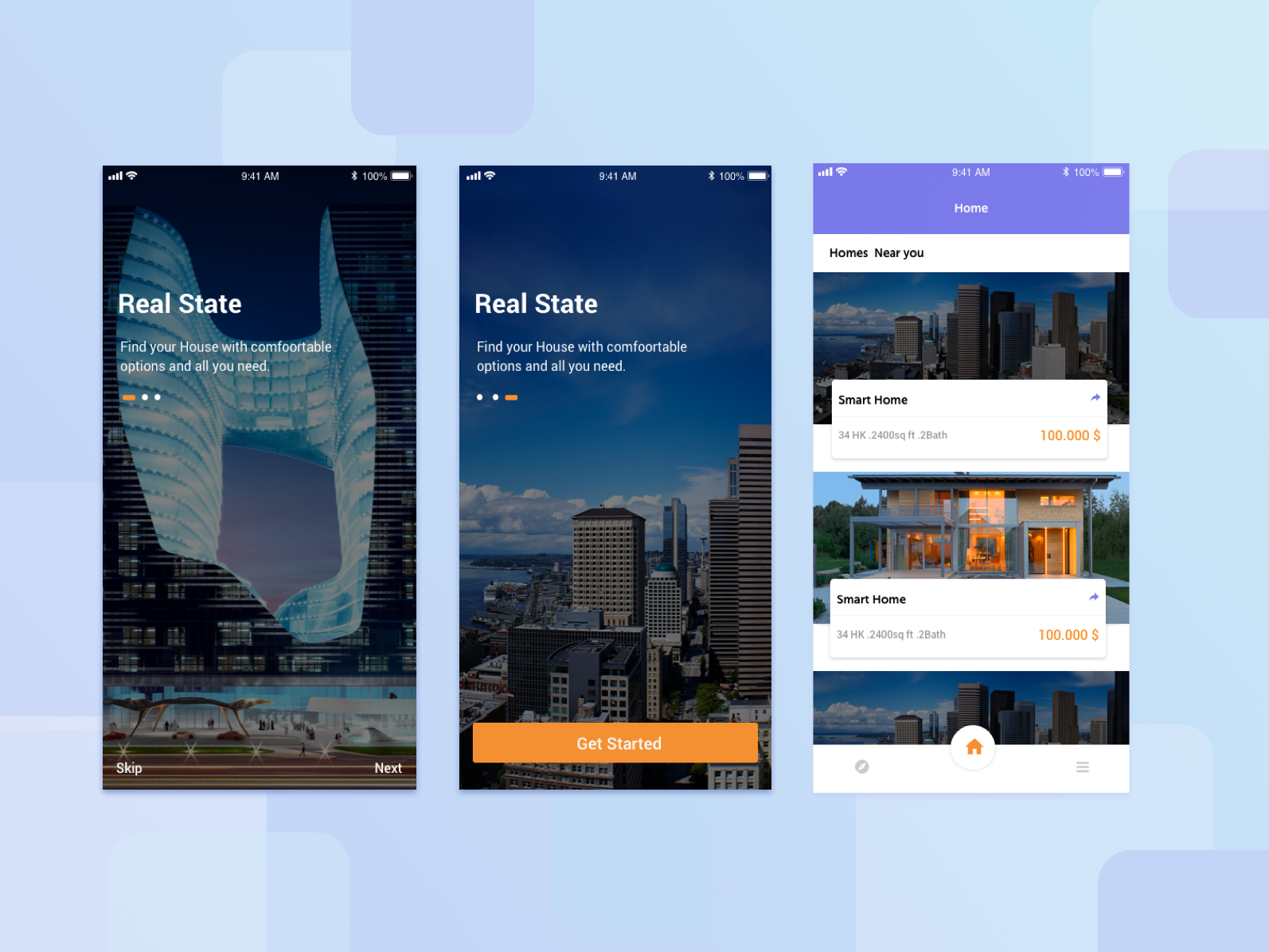 Real state UI Design uiux real state app ui ux design